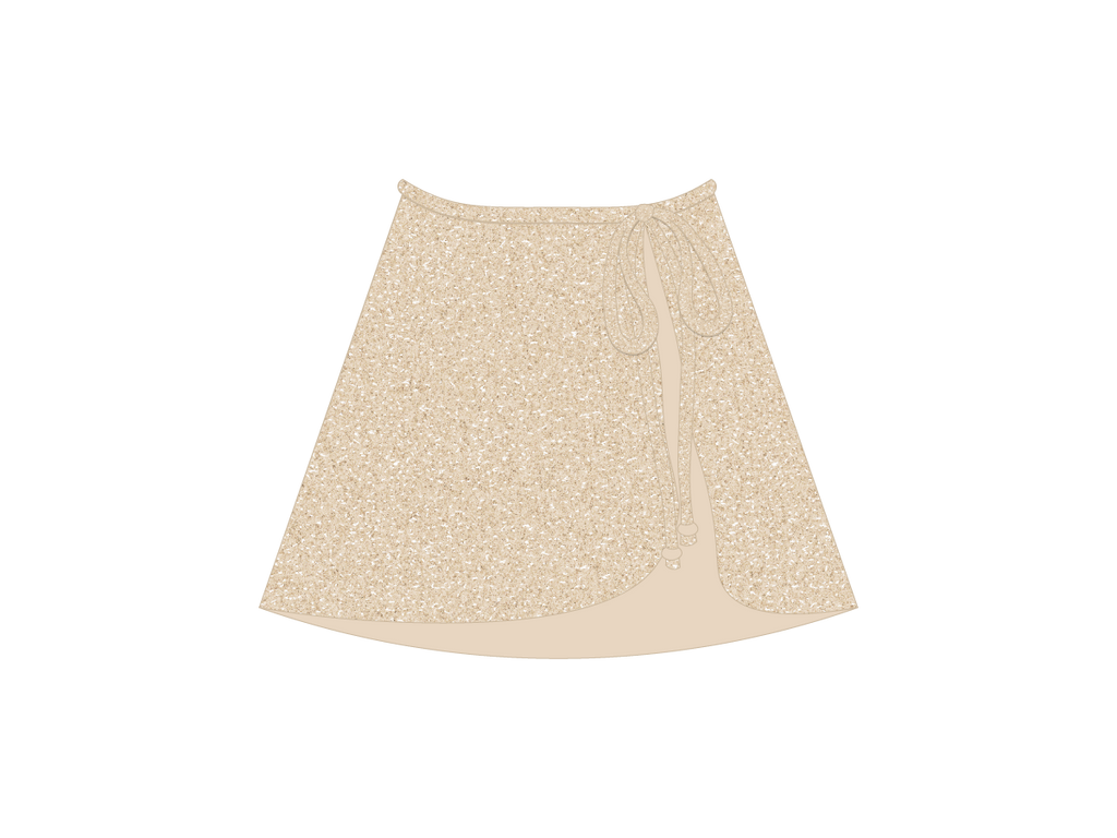 Sage/Amazonite Shimmer Wrap Skirt