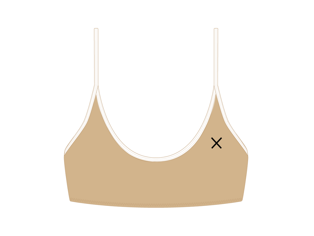 Laos Tan Bralette Top