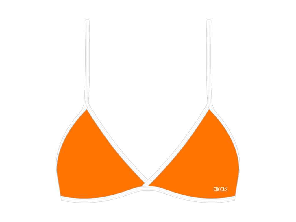 Cruise Orange Fitted Top II
