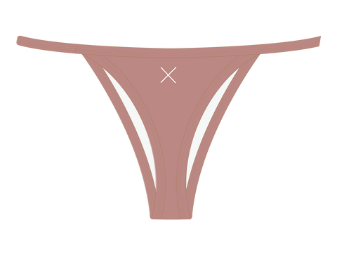 Deep Taupe Avalon Bikini Bottoms