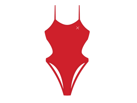 Rose Red Dive One Piece