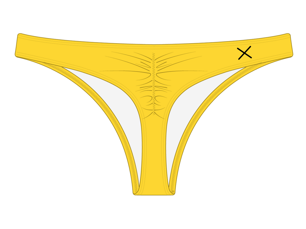Lily Yellow Classic Scrunch Bottoms