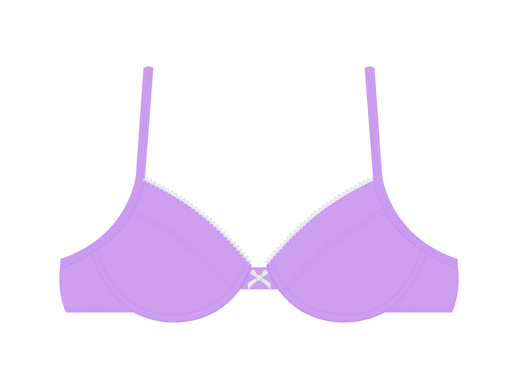 Bright Ube Bow Top