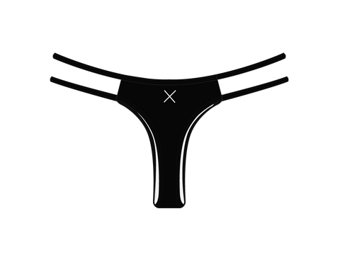 Manhattan Black Two Strap Bottoms