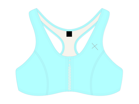 OFF-Blue Zipper Top