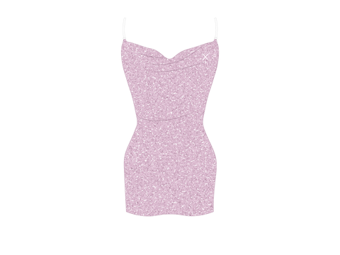 Amethyst Shimmer Pool Dress