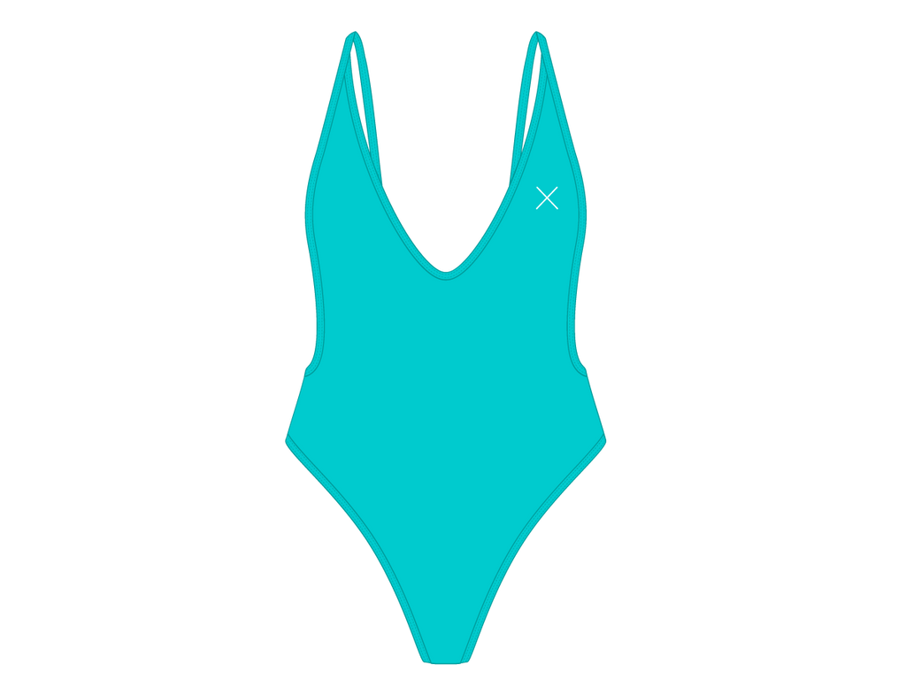 Cyan Retro One-Piece II