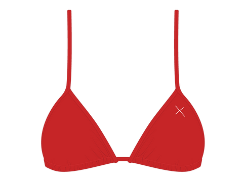 Rose Red bikini top