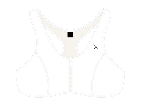 Venice White Zipper Top