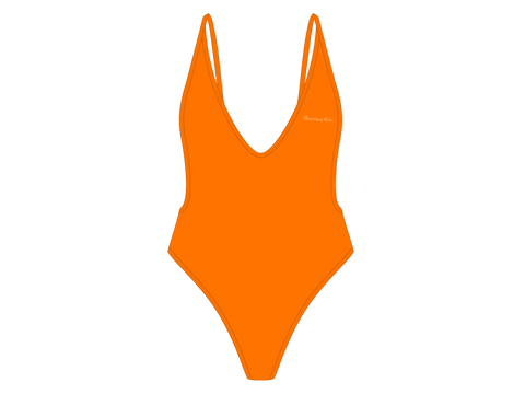 Wild Orange Retro One-Piece II