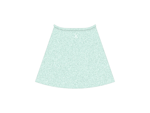 Aquamarine Shimmer Wrap Skirt