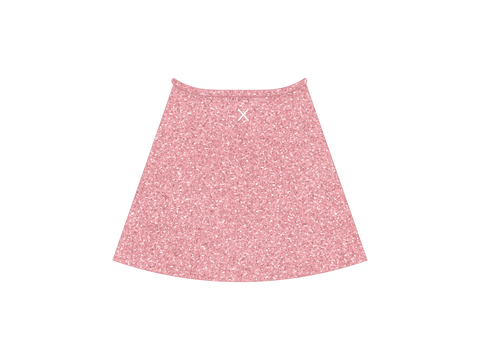 BubbleGum Shimmer Wrap Skirt