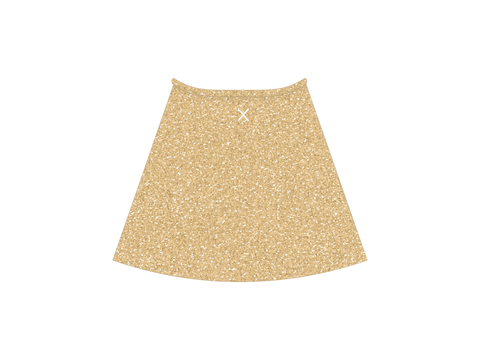 Gold-dust Shimmer Wrap Skirt