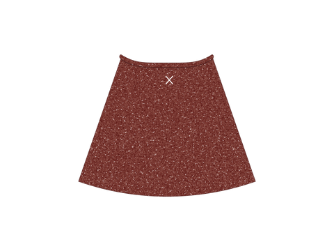 Rust Shimmer Wrap Skirt
