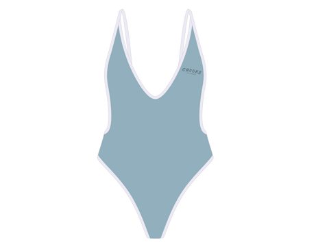 Horizon Blue Retro One-Piece