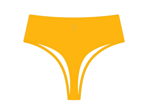 Lily Yellow High-Waist Bottoms