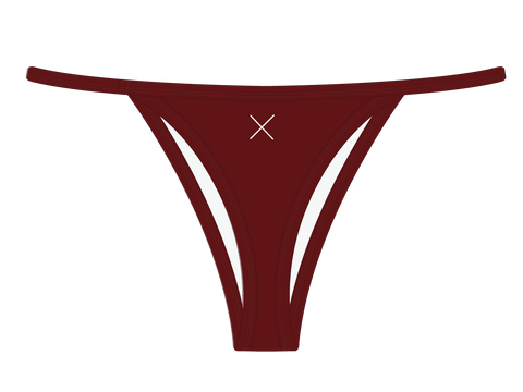 Plum Red Avalon Bikini Bottoms