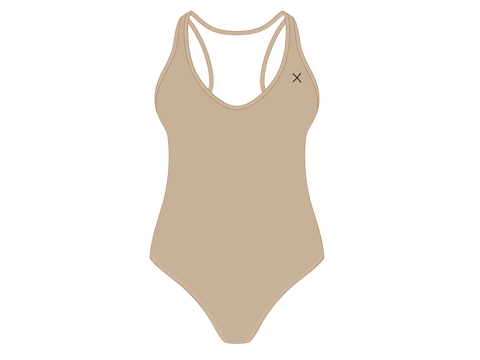Laos Tan Cayman One-Piece
