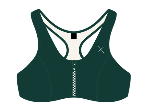 Valley Green Zipper Top
