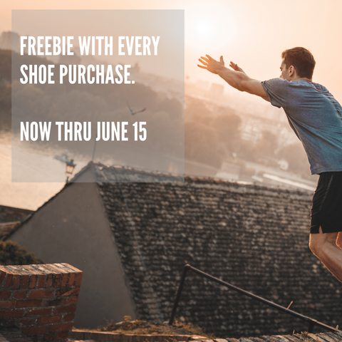 Parkour athlete jumping. Freebie with every purchase