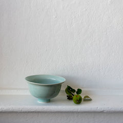 High Fire Translucent Porcelain Bowl with Celadon Glaze 6500