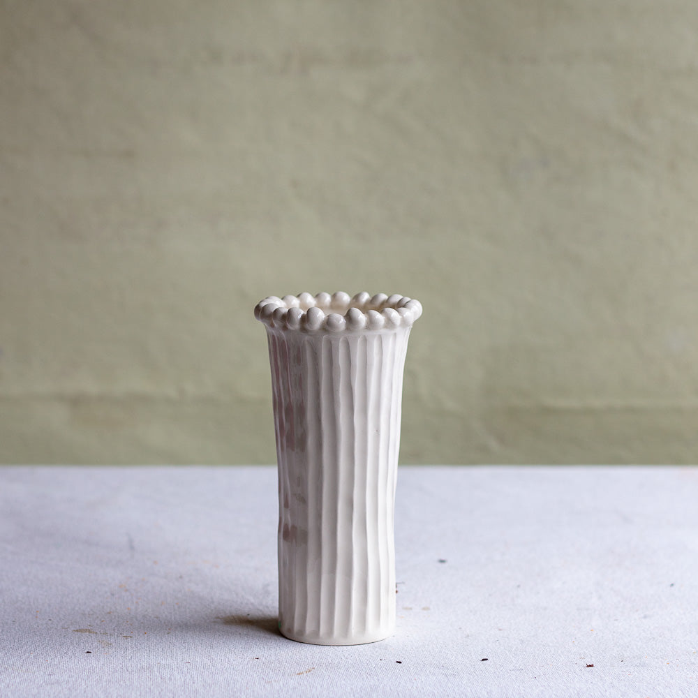 Phoebe Narrow Beaded Vase
