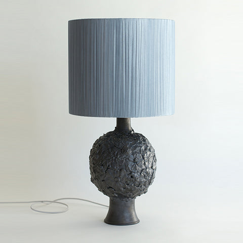 Pewter Flower Lamp