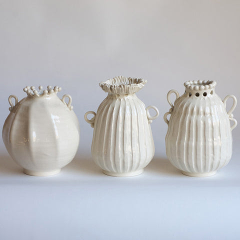 Assorted White Bud Vases (each sold separately)