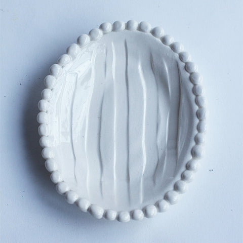 Flat Soap Dish with Beads (each sold separately)