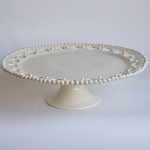Cake Plate with Holes and Beads