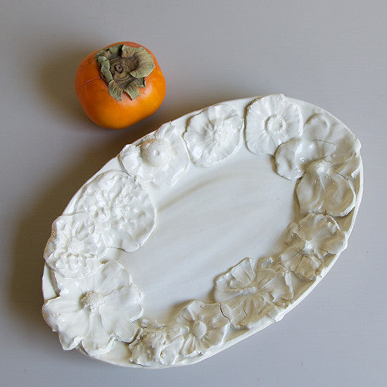 Small Oval Flower Platter