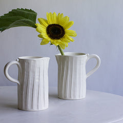 Fluted Pitchers (each sold separately)