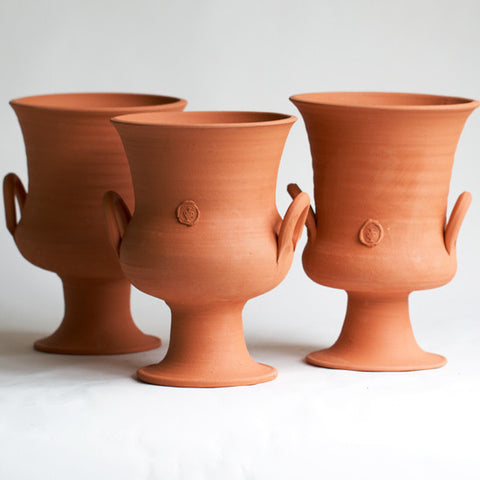 No. Five Terra Cotta Two Handle Urn (each sold separately)