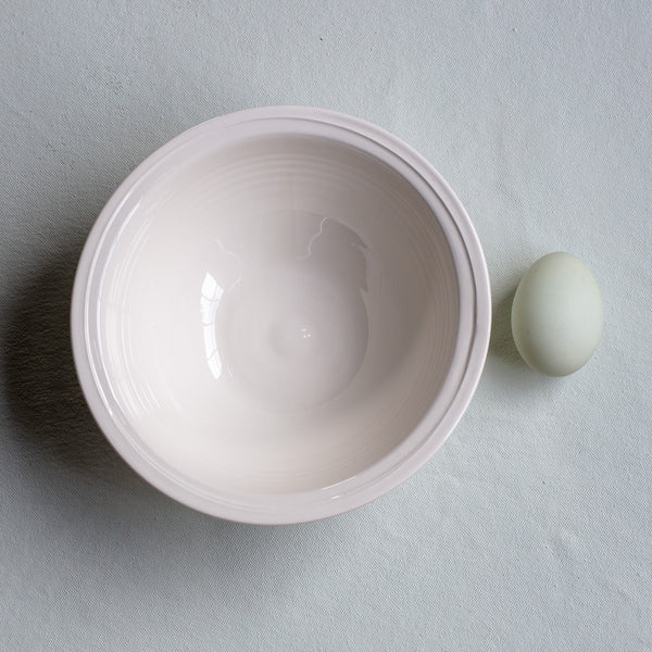 Creamware Hand Cast Cereal Bowl