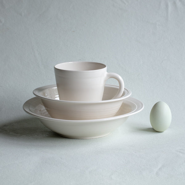 Creamware Hand Cast Salad/Soup Bowl