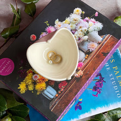Look Forward to Spring - Book, Puzzle, and Small Heart Ring Bowl
