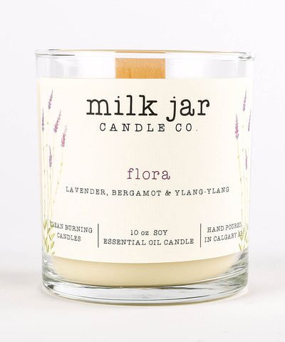 Milk Jar Candle - Flora