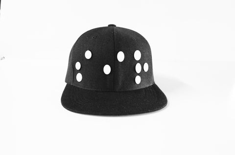 FW14 Snap Back Hat - Glow in the Dark Braille Logo