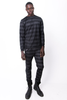 FW14 LONG SLEEVE STRIPED T-SHIRT WITH MESH OVERLAY