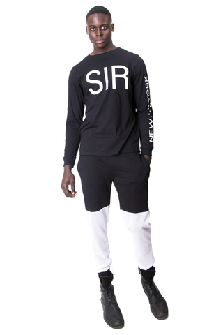 FW14 MESH / TERRY JOGGERS BLK/WHITE