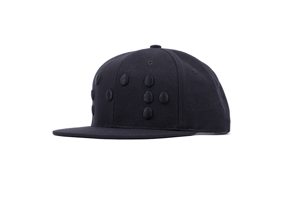 FW14 Snapback Hat Black on Black  3D Braille logo
