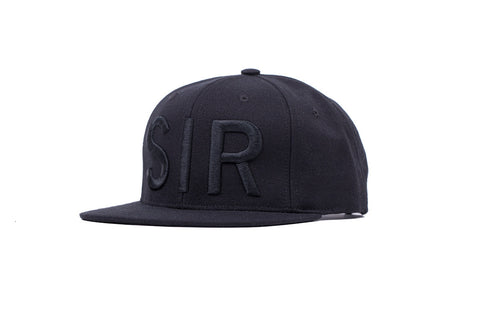FW14 Snapback Hat Black on Black 3D embroidered SIR