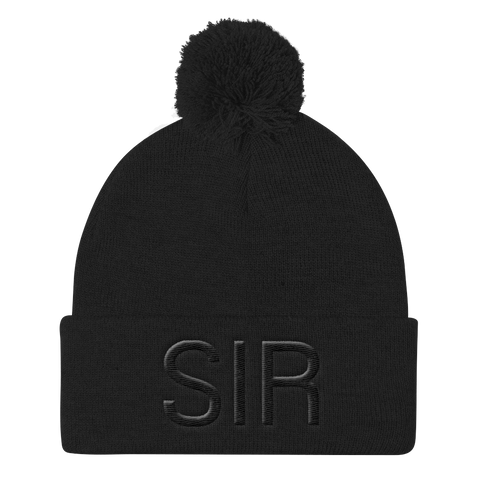 BLACK ON BLACK 3D KNIT CAP
