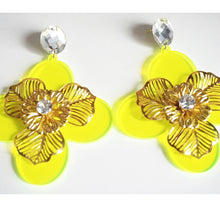 Flower Statement Big Earrings
