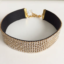 Gold Clear Crystal Choker