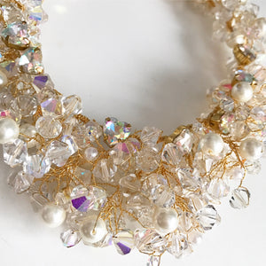 Crochet Bridal Gold Necklace