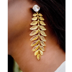 Statement Leaf Drop Earrings
