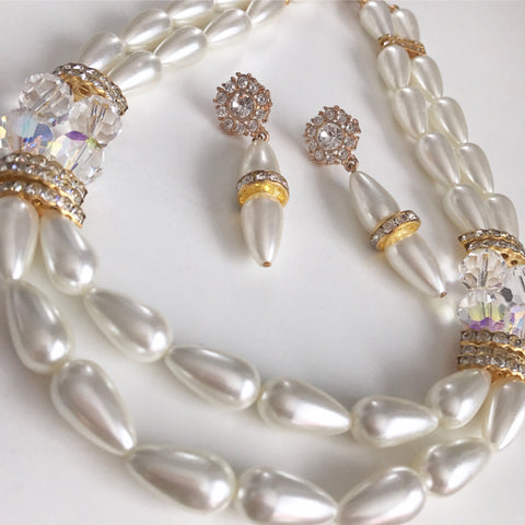 Bridal Pearls Statement Necklace Set