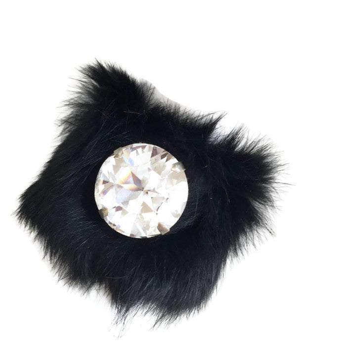 Fur Cystal Cuff , Bracelet -  Tarocollection - Handmade jewelry,  Tarocollection - Handmade jewelry  - 1