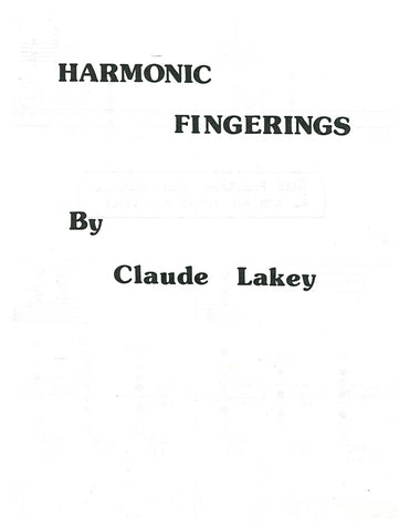 Harmonic Fingerings by Claude Lakey